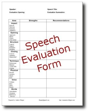 Speech evaluation essay