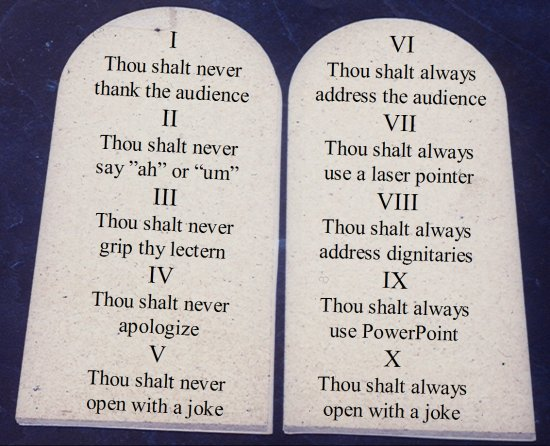 Ten Commandments of Public Speaking