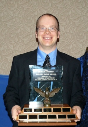 Toastmasters Evaluation Contest Champion - District 21