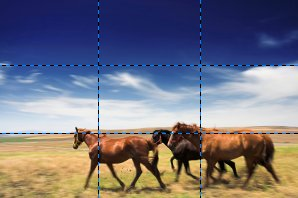 Rule of Thirds - Horses on Landscape
