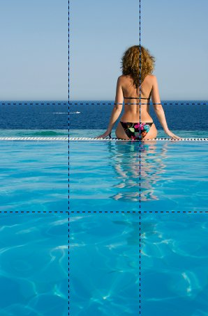 Rule of Thirds - Woman in Bikini