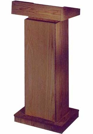 Church Lectern - Should you always speak behind it?
