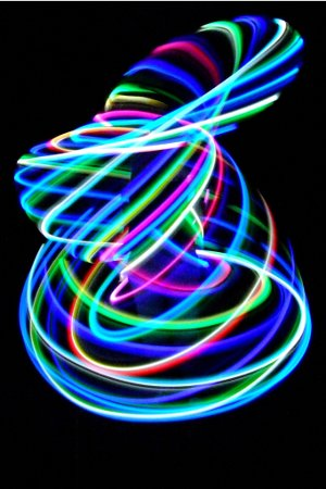 Amazing! Hooping with an LED