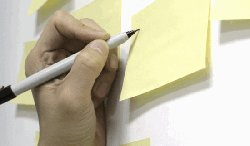 Post-It notes are easy to reorganize