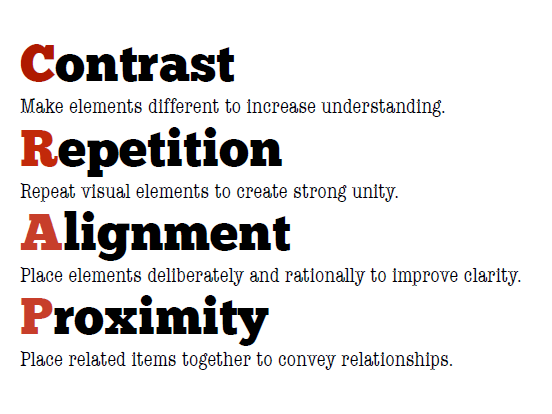 contrast-repetition-alignment-proximity