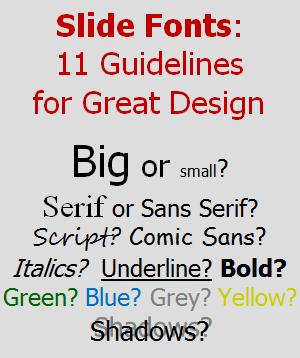 Slide Font Guidelines