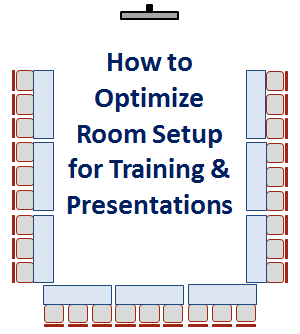 how to optimize room setup for training and presentations
